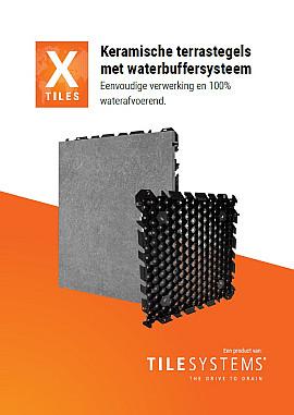 Keramische terrastegels met waterbuffersysteem